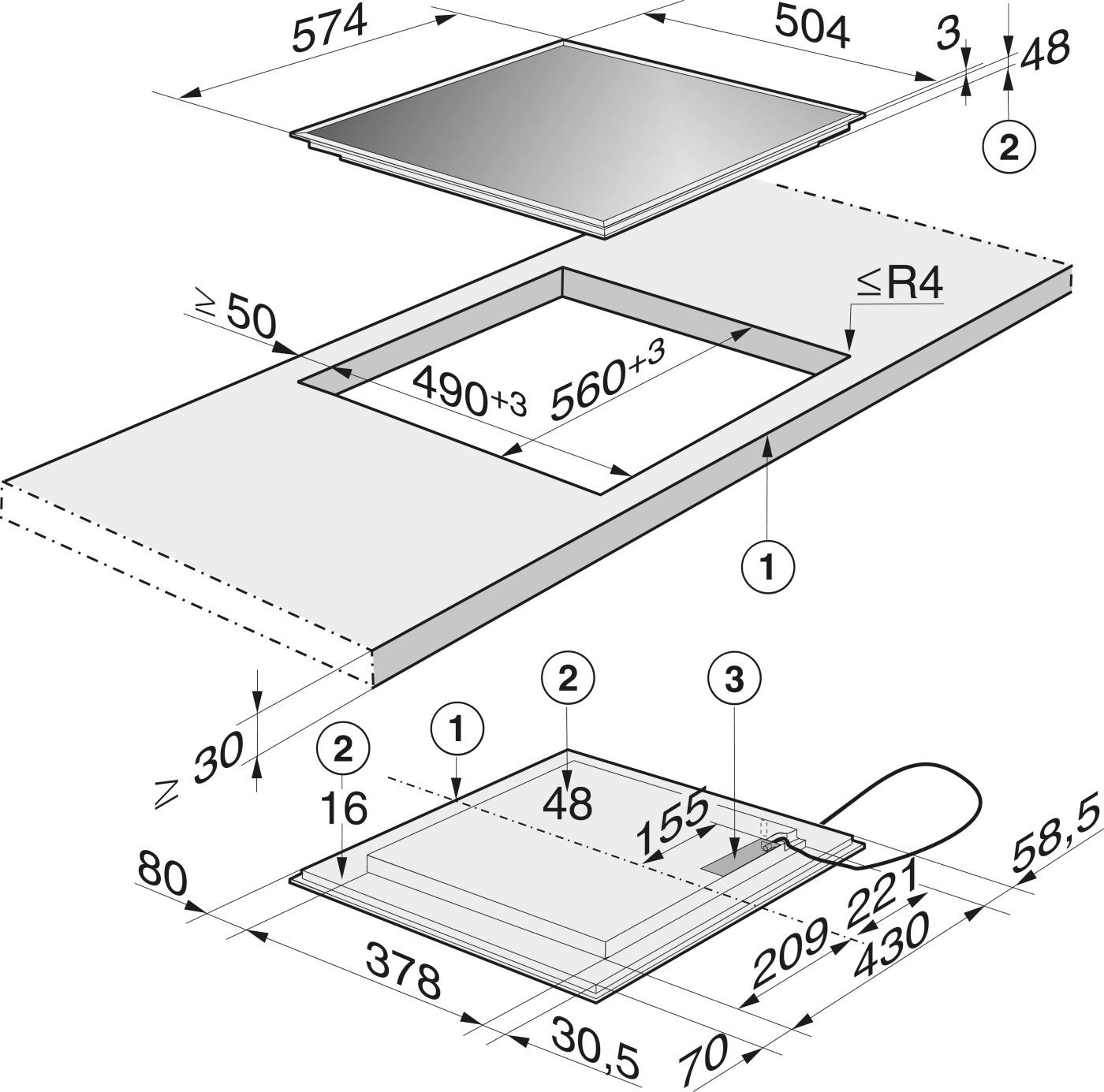 Схема встройки варочной панели фото 294